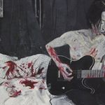 Zheng Wei  Guitar Dog  Woodcut and mixed materials 79×100cm  2013