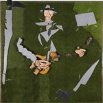 Guitarist No.1 - William Buroughs on grassland Mixed Media 230x230 2015